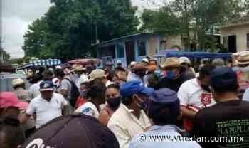 Entre protestas, directiva del Ejido de Halachó ratifica convenio - El Diario de Yucatán