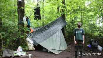 München: Eine Nacht im Aktivisten-Camp gegen Kiesabbau im Forst Kasten - tz.de
