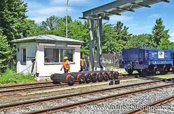 Eichzüge für Gleiswaagen - Züge werden in Ilmenau geeicht - inSüdthüringen