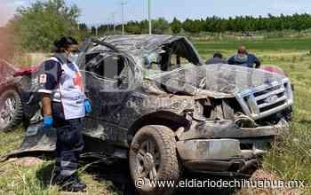 Vuelca familia en la carretera Delicias-Saucillo; hay cuatro lesionados - El Diario de Chihuahua