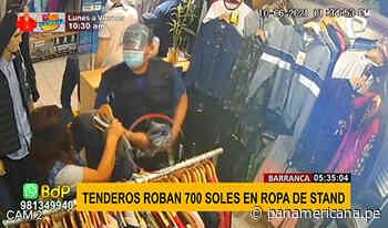 Barranca: pareja de tenderos roban 700 soles en mercadería de ropa - Panamericana Televisión