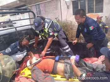 #Rescatan a persona que cayo a una barranca en Chimalhuacán - Noticias de Texcoco