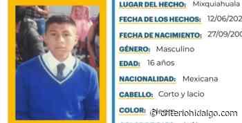Se busca a Joel Contreras Meza, se extravió en Mixquiahuala - Criterio Hidalgo