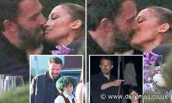 Jennifer Lopez and Ben Affleck pack on PDA as they passionately KISS during family dinner in Malibu