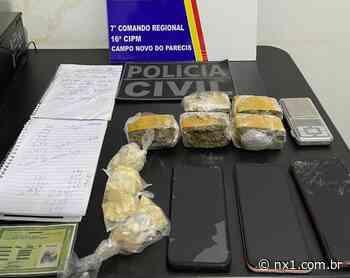 Suspeito é rendido embalando droga em Campo Novo do Parecis - NX1
