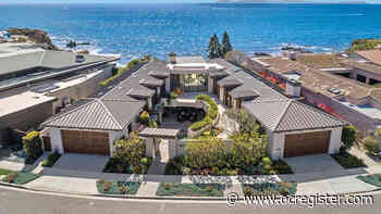 Corona del Mar courtyard home with a 29-foot water wall seeks $35 million - OCRegister