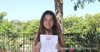 Teenager creates Optimistic Coloring Book to inspire children - Del Mar Times