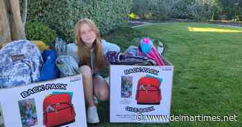 Local student leads Backpack Giveback donation drive - Del Mar Times