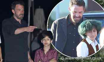 Ben Affleck proves he is part of family as he bonds with Jennifer Lopez's twins Emme and Max at Nobu