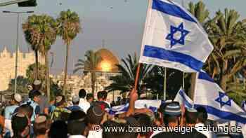 """Jerusalem: Nationalistischer """"Flaggenmarsch"""" und Gegendemonstration"""