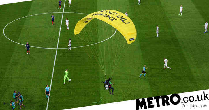 France vs Germany: Greenpeace protestor nearly crashes into fans during Euro 2020 match