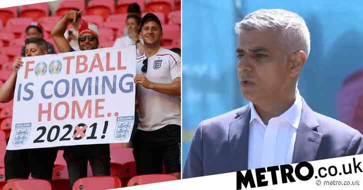 London Mayor Sadiq Khan claims 90,000 fans could attend Euro 2020 final at Wembley