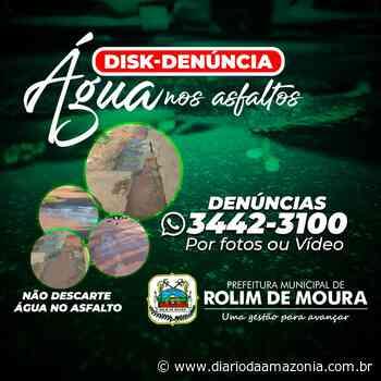 Jogar água nas calçadas vai gerar multa em Rolim de Moura - Diário da Amazônia