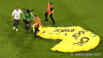 Parachuting protestor nearly crashes into fans ahead of France v Germany match at Euro 2020