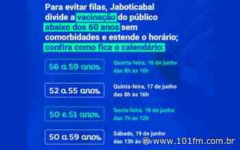 Para evitar filas, Jaboticabal dividirá a vacinação do público abaixo dos 60 anos sem comorbidades e estenderá o horário; confira como fica o calendário - Rádio 101FM