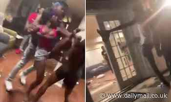 Shocking video shows house guests trash an Airbnb rental during an all-out brawl in Dallas