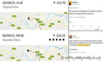 Uber DENIES prices are rising as increased costs are put down to greater surge charges