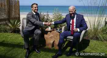 """Biden muestra sintonía con Macron y califica la Unión Europea de """"dinámica y fuerte"""" - El Comercio Perú"""