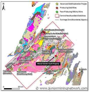 Marvel Discovery Acquires 10250 Hectares, Between The Exploits Subzone and The Gander Zone - Newfoundland - Junior Mining Network