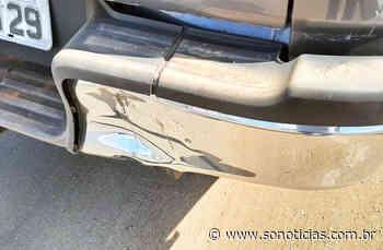 Motociclista fica ferido em colisão com caminhonete na MT-242 em Sorriso - Só Notícias