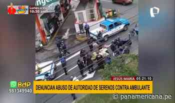 Jesús María: Denuncian abuso de autoridad de serenos contra vendedor de naranjas - Panamericana Televisión