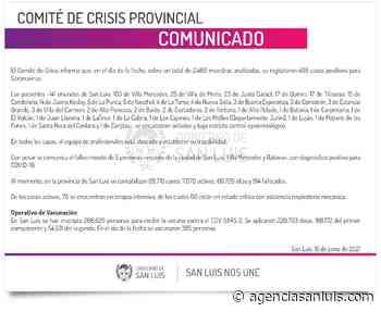 Este martes se registraron 406 casos de Coronavirus - Agencia de Noticias San Luis
