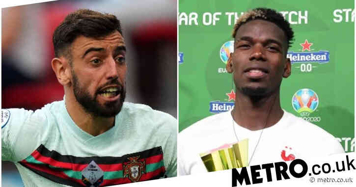 Bruno Fernandes sends message to Paul Pogba after France beat Germany in Euro 2020 opener