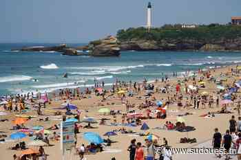 Biarritz : plus de 30° C et des plages prises d'assaut - Sud Ouest