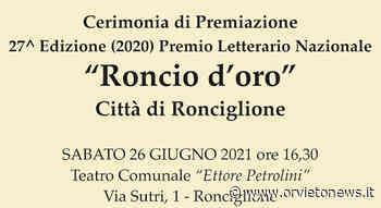 """""""Roncio d'Oro Città di Ronciglione"""", al Teatro Petrolini la cerimonia del Premio Letterario Nazionale - OrvietoNews.it"""