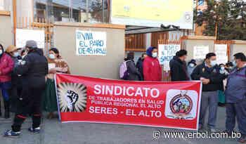 Sindicato de salud en El Alto se declara en paro en demanda de restitución de trabajadores destituidos - Red Erbol