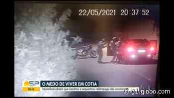 Moradores de Cotia sofrem com medo da violência; veja vídeos de roubos - G1