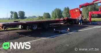 Ongeval bij autoweg in Wervik - VRT NWS