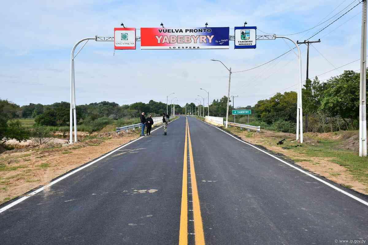 Pavimentación asfáltica entre Corateí-Yabebyry pone fin a décadas de aislamiento   - ip.gov.py