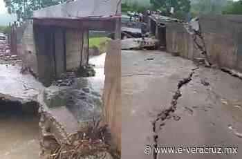 Tres comunidades rurales incomunicadas por caída de puente en Misantla - e-veracruz