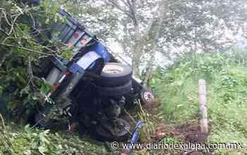 Camión se desbarrancó en la carretera a Misantla - Diario de Xalapa