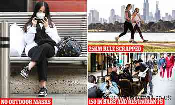 Covid-19 Australia: No masks outdoors, limits lifted in Melbourne expected restriction easing