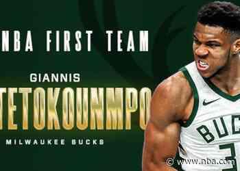 GIANNIS ANTETOKOUNMPO NAMED TO 2020-21 ALL-NBA FIRST TEAM