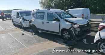 Langer Stau: Drei Verletzte nach Auffahrunfall auf der Autobahn 4 bei Eschweiler - Aachener Zeitung