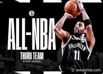 Brooklyn Nets Guard Kyrie Irving Named All-NBA Third Team