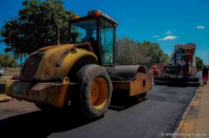 """Início das Obras do """"Tchau Poeira"""" em Ariquemes - Governo do Estado de Rondônia"""