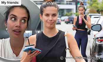 Sara Sampaio flaunts toned midriff during WeHo workout... before making odd confession on TikTok