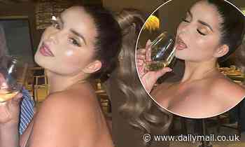Demi Rose leaves little to the imagination in a SEE-THROUGH catsuit in racy snaps
