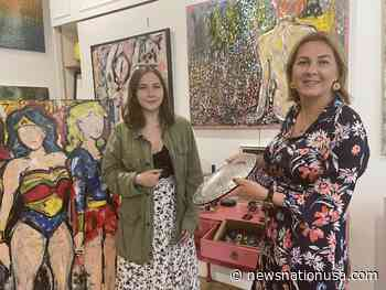 WATCH: Mum and daughter speak on 'accidental' success with Merton gallery - News Nation USA