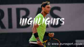 French Open tennis - Highlights: Rafael Nadal overpowers Richard Gasquet to progress on his birthday - Eurosport UK