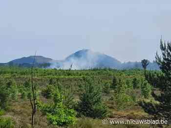 Brand aan Monnikswijer militair domein Helchteren-Meeuwen