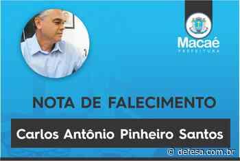 Nota de falecimento – Carlos Antônio Pinheiro Santos - Defesa - Agência de Notícias