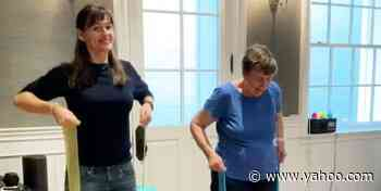Watch Jennifer Garner, 49, And Her Mom Pat, 83, Crush A Workout Together - Yahoo Lifestyle