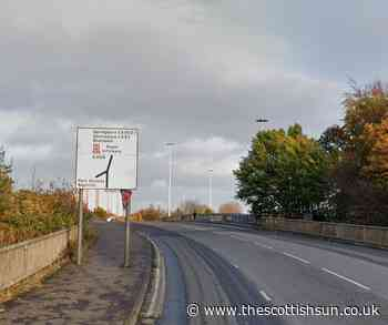 Ongoing police incident in Glasgow as busy road locked down near M8... - The Scottish Sun