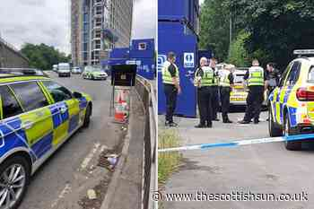 Ongoing police incident in Glasgow as '10 cop vans and sniffer dogs' race to scene... - The Scottish Sun