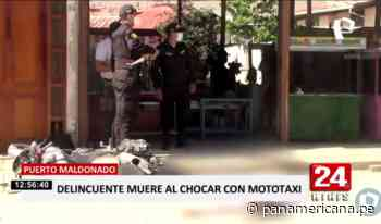 Delincuente muere tras accidentarse durante persecución en Puerto Maldonado - Panamericana Televisión